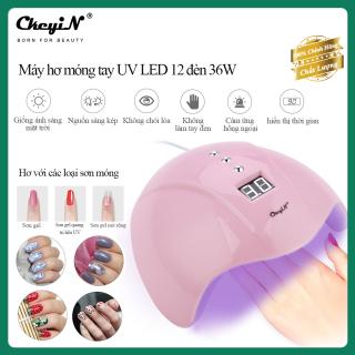 CkeyiN Máy hơ móng tay UV LED 12 đèn 36W, khô nhanh với 3 chế độ hẹn giờ và cảm ứng tự động MJ065 thumbnail