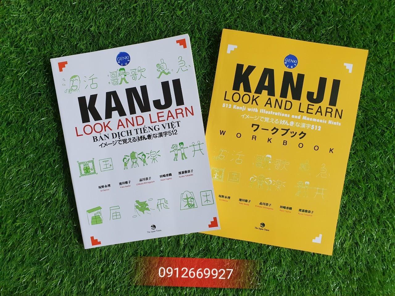 Offer Ưu Đãi Sách Tiếng Nhật - Combo 2 Cuốn Kanji Look And Learn 512