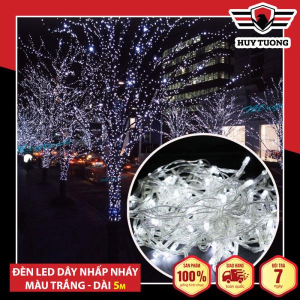 Dây Đèn Nhấp Nháy Trang Trí Noel Và Tết Tự Động Đổi Màu (5M/ 1 Dây) Cao Cấp - Huy Tưởng