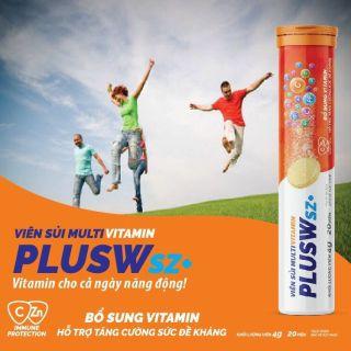 Viên Sủi Bổ Sung Vitamin, Tăng Sức Đề Kháng PLUSW - Tuýp 20 Viên thumbnail