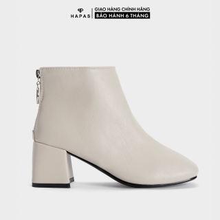 Giày Bốt Nữ Boot Da Mịn Gót Vuông 5Phân HAPAS - BOT528