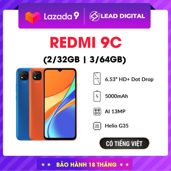 [BẢN QUỐC TẾ] Điện thoại Xiaomi Redmi 9C 2GB/32GB, Chip MediaTek Helio G35 8 nhân (12 nm), Màn hình giọt nước 6.53 HD+, Camera 13MP, Pin 5000 mAh siêu trâu, Cày game ngày đêm - BH Chính hãng 18 tháng
