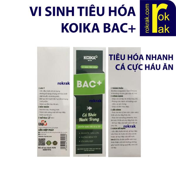 Men vi sinh tiêu hoá Koika BAC+ 100ml cho cá ăn cực khoẻ, bổ sung khoáng chất thiết yếu, giúp hệ tiêu hóa cá khỏe mạnh hơn