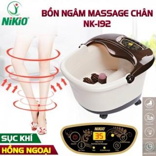 Bồn ngâm chân massage cao cấp Nikio NK-192 - Cải thiện giấc ngủ, giảm stress - HÀNG NHẬT BẢN thumbnail