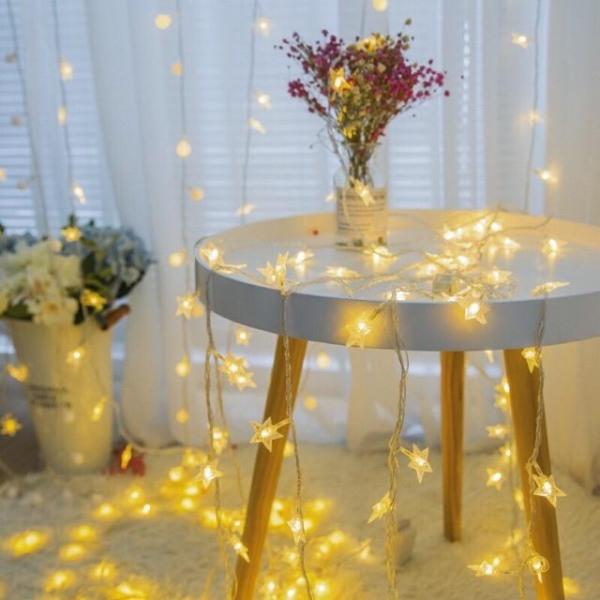 Dây đèn ngôi sao trang trí - Đèn vàng ấm RẺ VÔ ĐỊCH