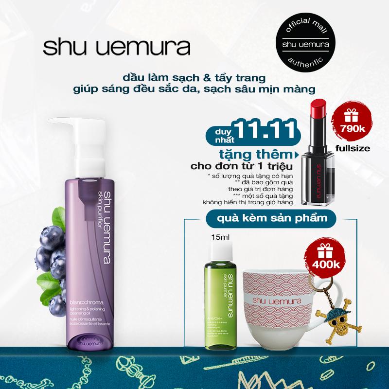 dầu làm sạch và tẩy trang shu uemura blanc:chroma cleansing oil 150ml