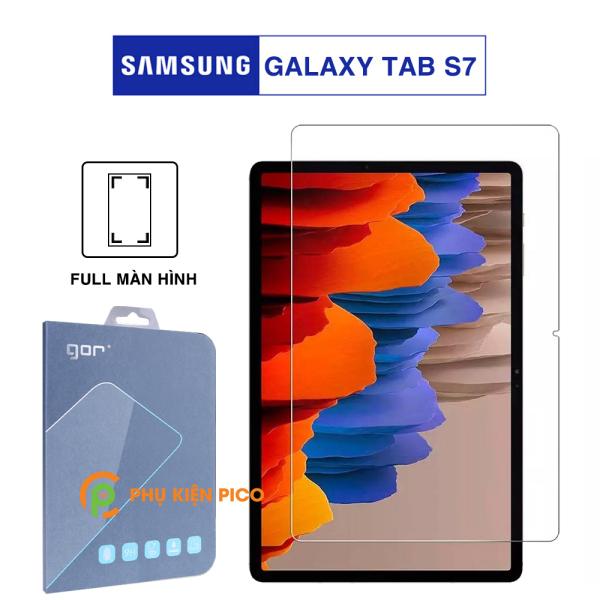 Kính cường lực Samsung Tab S7 full màn hình chính hãng Gor dùng chung với mọi loại ốp lưng – Dán màn hình Samsung Galaxy Tab S7