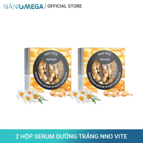 Combo 2 hộp serum vitamin C NNO VITE hộp 30 viên dưỡng trắng, ngăn sạm nám, cải thiện lão hóa da