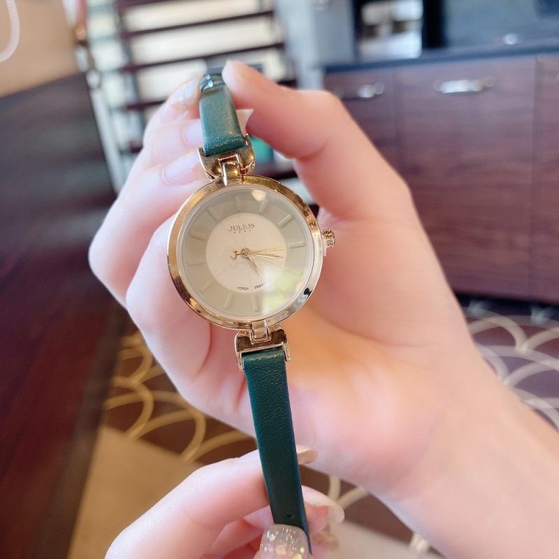 Đồng hồ nữ Julius Hàn Quốc JA-864B dây da cá tính (Xanh rêu)
