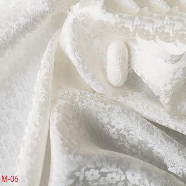 Vải Lụa Tơ Tằm hoa mai Palacesilk