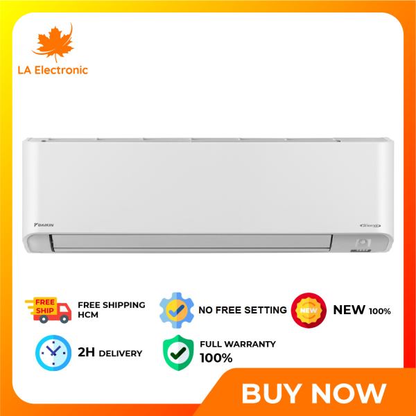 [HCM]Daikin Air Conditioner FTKZ71VVMV 3.0Hp Inverter - Free shipping HCM - Cooling mode pleasant function anti-mold technology combination Streamer Wings radiator Outdoor unit against corrosion The wind comfortable Coanda Remote LED