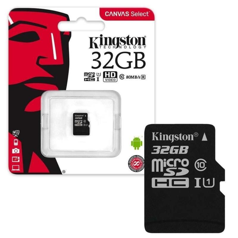 Thẻ nhớ microSDHC Kingston 32GB Class 10 U1 80Mb/s (Đen) - Bảo hành 5 năm