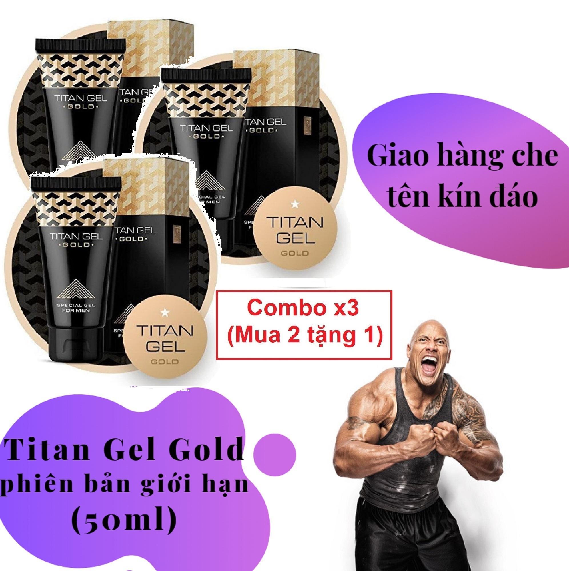 Combo x3 (Mua 2 tặng 1) [ Lô mới nhất ] Gel-Titan-Nga Gold cao cấp phiên bản giới hạn (50ml) (Che tên khi giao hàng)
