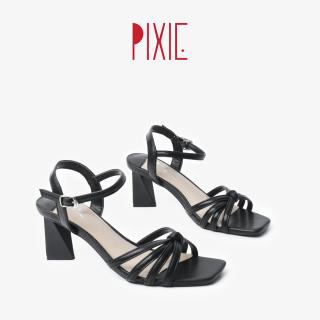Giày Sandal Cao Gót 5cm Quai Thắt Mũi Vuông Pixie X570 thumbnail