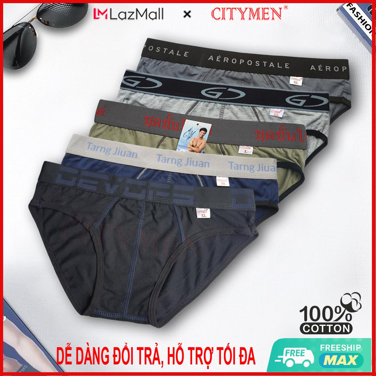 Combo 5 Quần Lót Nam cao cấp | nhiều lưng | quần xì | xịp, sịp nam | vải cotton 2 chiều | CITYMEN | đồ lót
