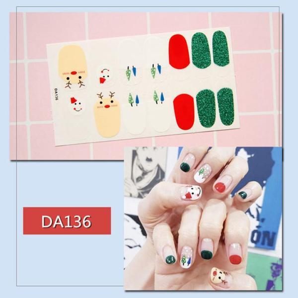 Sticker dán trang trí móng tay họa tiết dễ thương mã DA121 - DA140 - Dự kiến giao 24/6