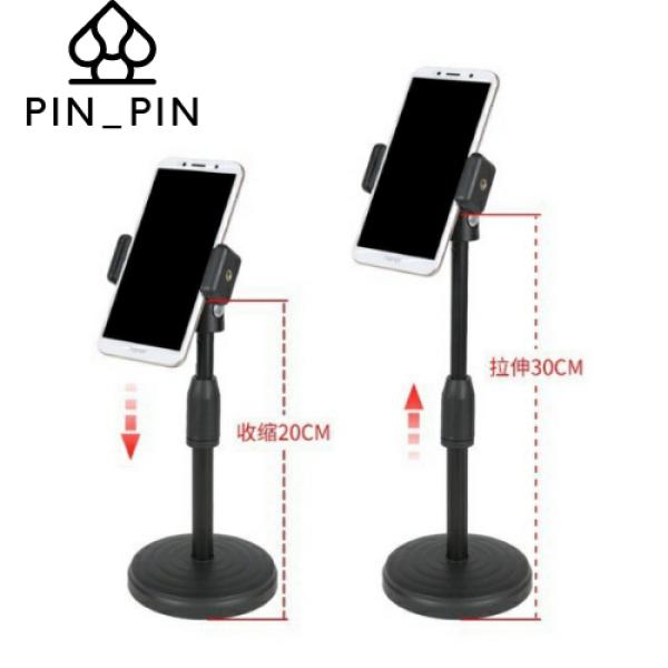 Giá đỡ điện thoại di động để bàn điều chỉnh 360 độ được thiết kế thăng bằng và đế rất nặng tránh tình trạng lật đổ điện thoại.
