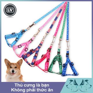 Dây dắt yếm cho chó mèo dưới 4kg giao màu ngẫu nhiên- Phụ kiện Long Vũ thumbnail