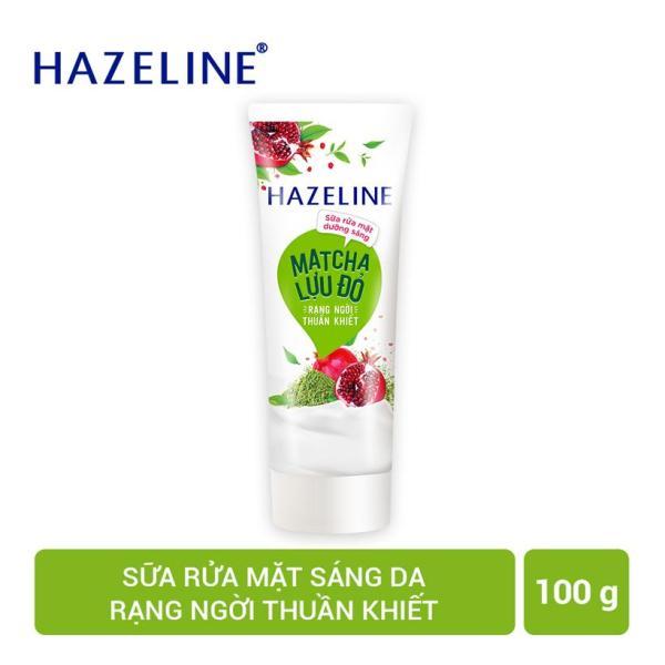 Sữa rửa mặt Hazeline Dưỡng Sáng Da Matcha và Lựu Đỏ 100g