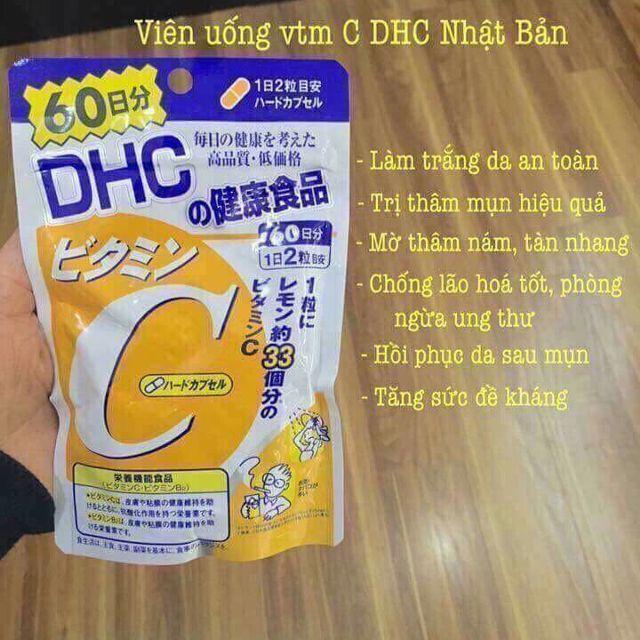 Viên Uống Trắng Da DHC Bổ Sung Vitamin C Nhật Bản nhập khẩu