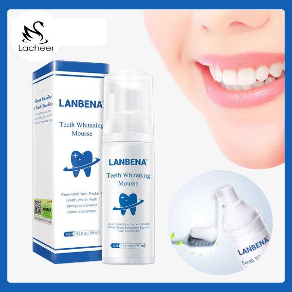 LANBENA Tinh chất làm trắng răng khử mùi hôi miệng kem đánh răng làm sạch răng tẩy vết ố Whitening Teeth Toothpaste Mousse