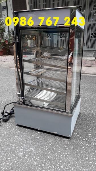 Tủ hấp bánh bao 5 tầng bằng kính sạch sẽ, tiện dụng