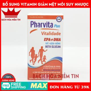 Viên uống vitamin tổng hợp Pharvita Plus tăng cường sức đề kháng, giảm mệt mỏi suy nhược, bồi bổ cơ thể - Hộp 30 viên dùng cho người từ 6 tuổi thumbnail