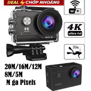 Camera Hành Trình Chống Nước 4K Ultra HD - Hỗ trợ góc quay rộng 170 độ tiêu chuẩn chống nước, chống rung. Hỗ trợ Wifi kết nối và xem lại trực tiếp hoặc trên ứng dụng điện thoại- Bảo hành 12 tháng thumbnail