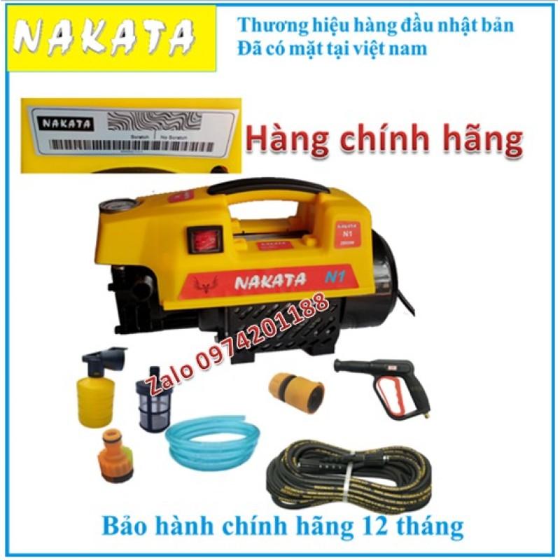 Máy rửa xe NAKATA N1 2800w, hàng công ty - tặng bình