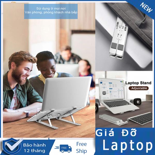 Bảng giá Giá đỡ máy tính, Giá đỡ laptop nhựa ABS-NHÔM có thể gấp gọn dành cho Macbook Ipad Surface và máy tính xách tay Phong Vũ