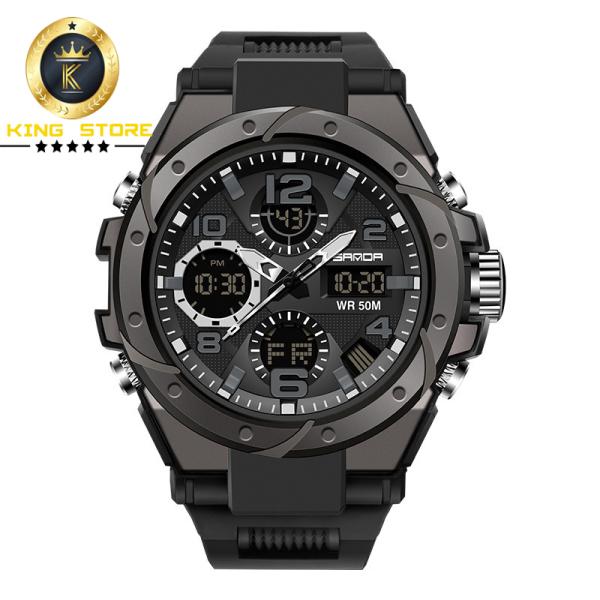 Đồng hồ nam sanda 6018 chống nước cực tốt , bền bỉ , dây cao su khỏe khoắn mạnh mẽ- KING 88 STORE