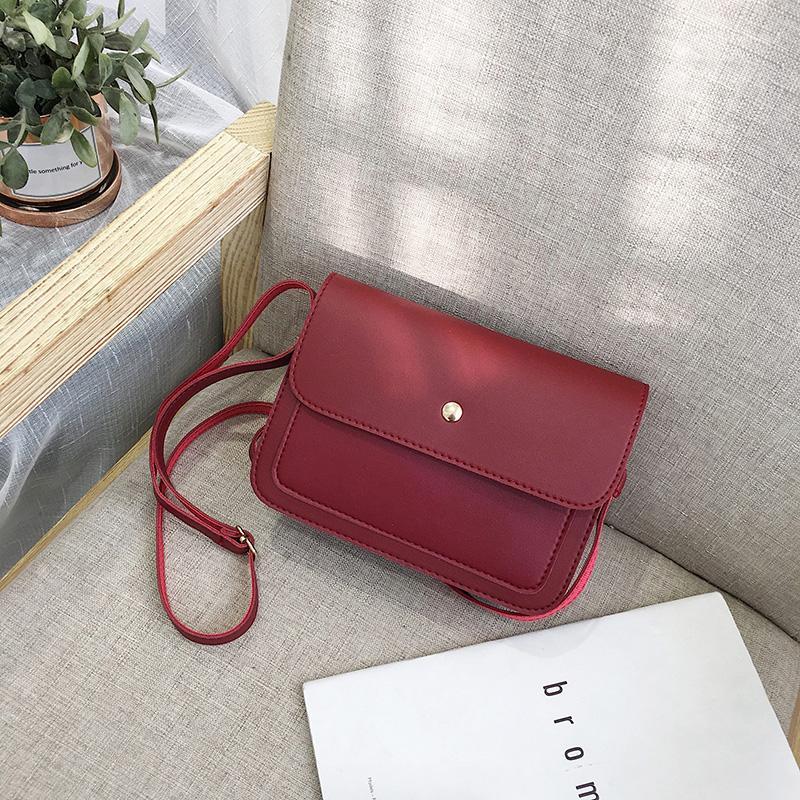 Hong Kong Style Leisure Small Bag Womens Bag 2019 New Style Fashion Korean Style Versatile Shoulder Bag Fashion Simple One-Shoulder Square Sling Bag