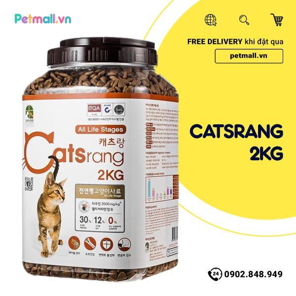 Thức ăn mèo Catsrang 2kg - hộp nhập Hàn Quốc