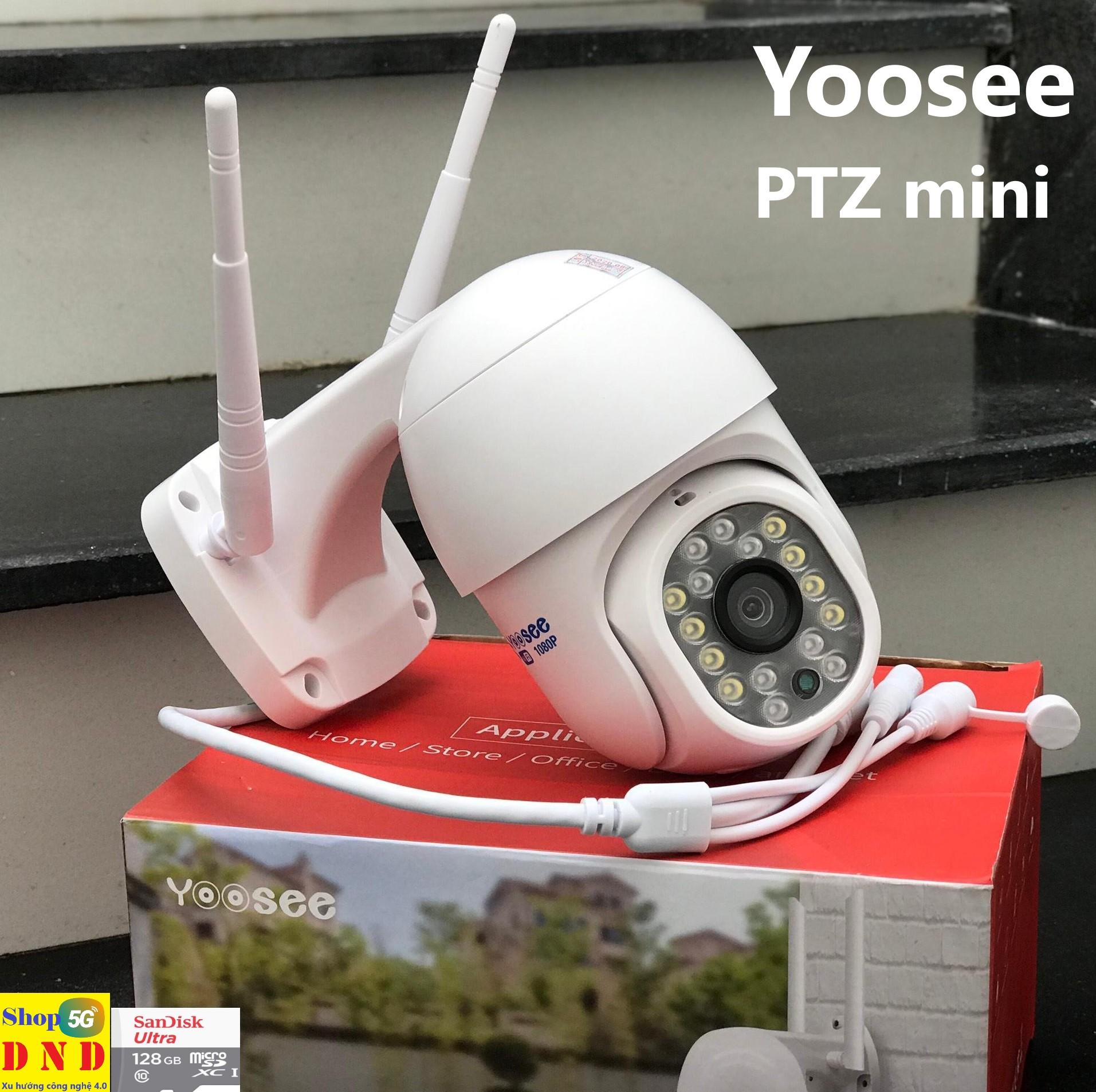 Camera PTZ IP Wifi ngoài trời 2.0Mpx FullHD-1080P Yoosee siêu mini 16 led - Shop5G DND hỗ trợ cài đặt - Cam kết chính hãng, (Kèm thẻ 128GB, 64GB,.. tự chọn)
