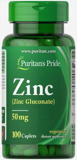 Viên Uống Kẽm Giảm Mụn, Tăng Sức Đề Kháng Puritan s Pride Zinc Gluconate 50mg 100 Viên - 250 viên thumbnail