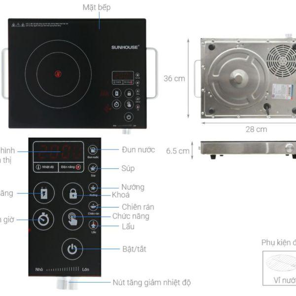 Bảng giá BẾP HỒNG NGOẠI SUNHOUSE SHD6017 Điện máy Pico