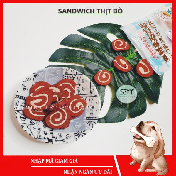 Bánh thưởng cho chó Sumiho (sandwich thịt bò) (100gr/túi) Đồ ăn cho chó mèo thú cưng