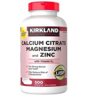 Viên Uống Bổ Sung Canxi cho xương chắc khỏe Kirkland Calcium Citrate Magnesium and ZinC 500 Viên thumbnail