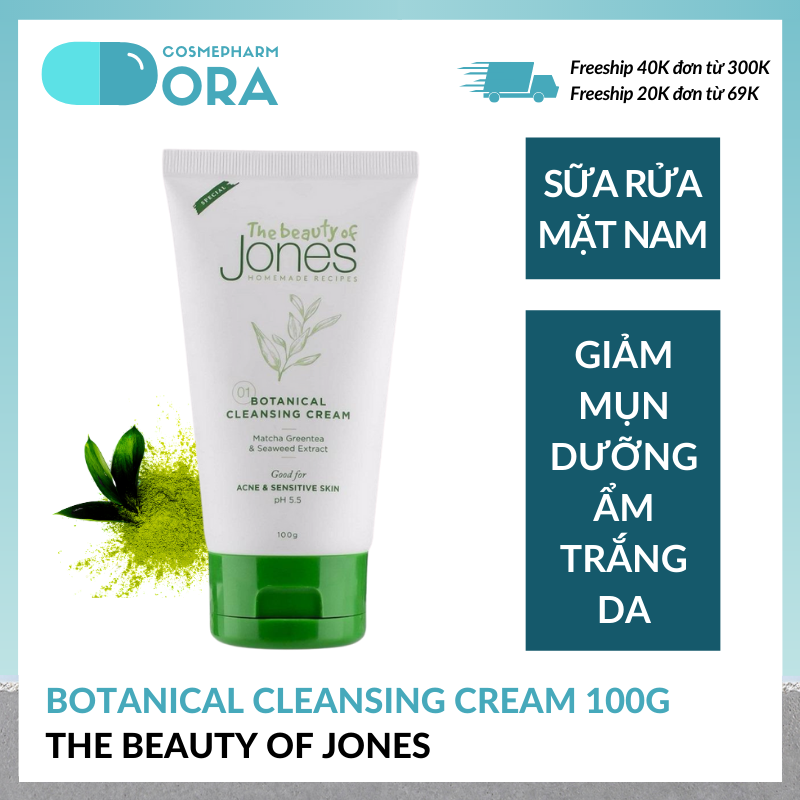 Sữa rửa mặt cho nam Botanical Cleansing Cream 100g