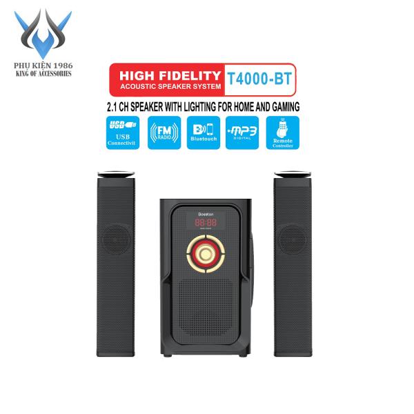 Bảng giá [HCM]Loa vi tính 2.1 kiêm Bluetooth USB thẻ nhớ Bosston T4000-BT 60W led RGB 7 màu nguồn 220V (Đen) - Phụ Kiện 1986 Phong Vũ