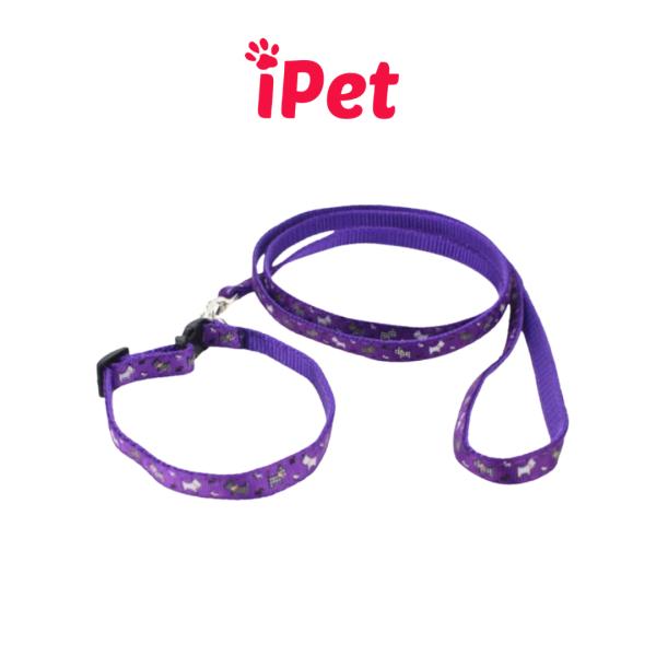 [HCM]Dây Dắt Kèm Vòng Cổ Chuông Cho Thú Cưng Chó Mèo - iPet Shop