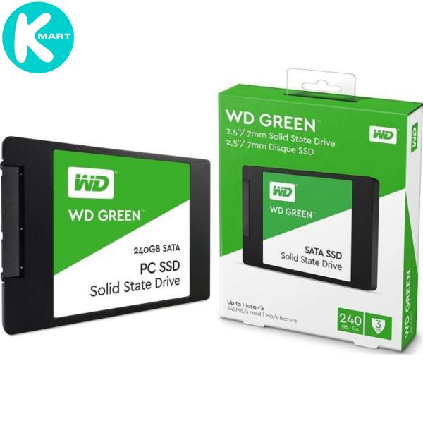 Giá Ổ cứng SSD Western Digital Green 240GB 2.5 SATA 3 - WDS240G2G0A - Hàng Chính Hãng