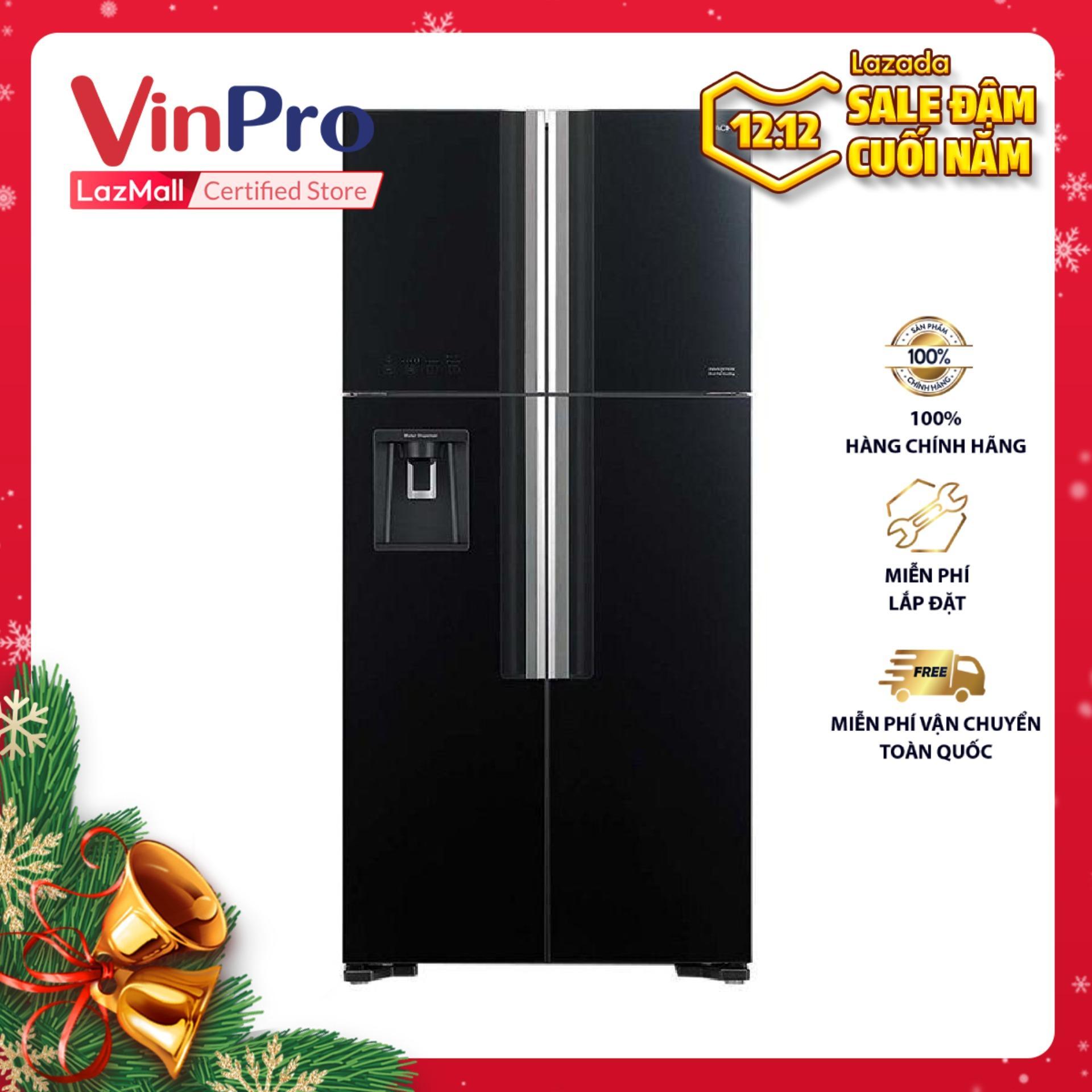 Tủ lạnh Inverter Hitachi R-FW690PGV7X (GBK), 540L (Đen) - Hàng chính hãng