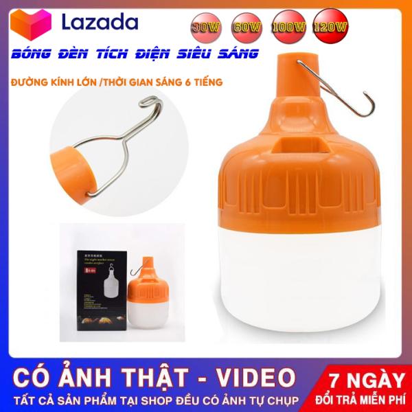 (HÀNG XỊN,BẢO HÀNH 6 THÁNG) Đèn LED cao cấp Q021 siêu sáng, bóng đèn tích điện 100w , sạc tích điện, có móc treo rất tiện lợi, có thể sạc pin, chất liệu nhựa độ bền cao, tuổi thọ sử dụng lâu