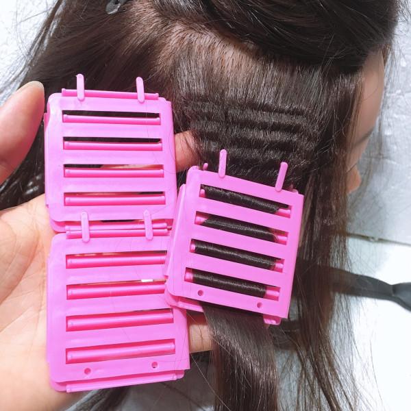 combo 6 kẹp bấm xù tóc dùng với thuốc uốn lạnh cao cấp