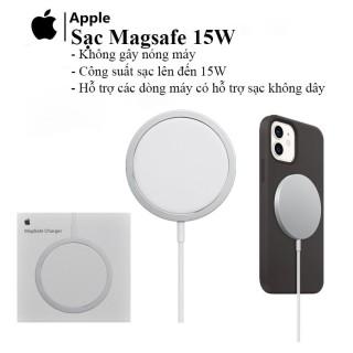 [ SALE LỚN 50% ] Sạc không dây Apple MagSafe cho iPhone 12 - Đế Sạc Không Dây Apple MagSafe Charger - Sạc Không Dây Chuẩn Qi - Sạc Nhanh Cho iPhone 12 Pro Max, 12 Mini, iPhone 11, 11Pro Max - Công Suất 15W -Tiện Lợi, Dễ Sử Dụng. BH 12 THÁNG thumbnail