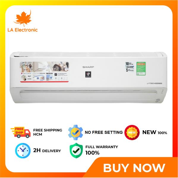 [GIAO HÀNG 2 - 15 NGÀY TRỄ NHẤT 15.09] [Trả góp 0%]Installment 0% - Sharp Inverter 1.5 HP Air Conditioner AH-XP13YMW New 2021 - Miễn phí vận chuyển HCM