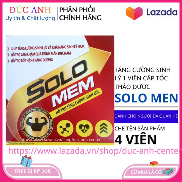 Tăng cường sinh lý nam giới cấp tốc vỉ 4 viên SOLO XMEN HSD 2022 nhập khẩu