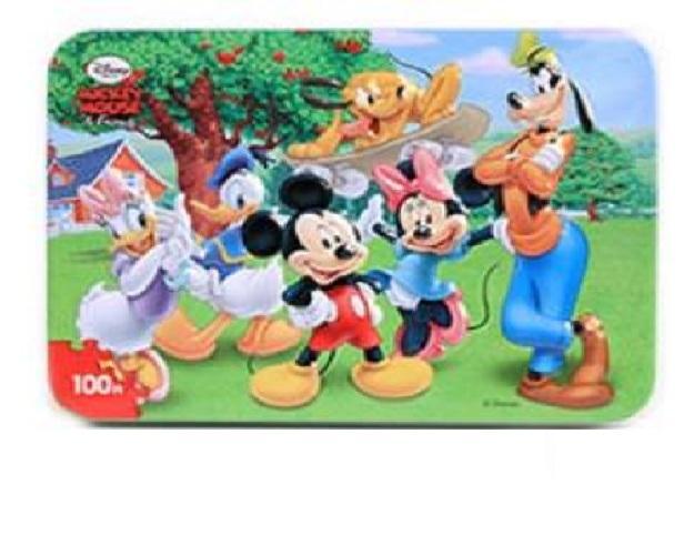 Ghép Hình Puzzle 100 Mảnh Hộp In Dập Nổi - Ghép Tranh Chuột Mickey Có Giá Tốt