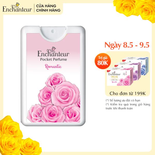[VOUCHER 20K][Freeship]Nước hoa bỏ túi Enchanteur Romantic 18ml/hộp nhập khẩu